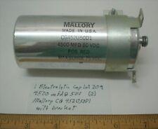 Mallory CG152U050R3C Capacitor 1500MFD 50VDC POS+85C Max Surge 75VDC NOS