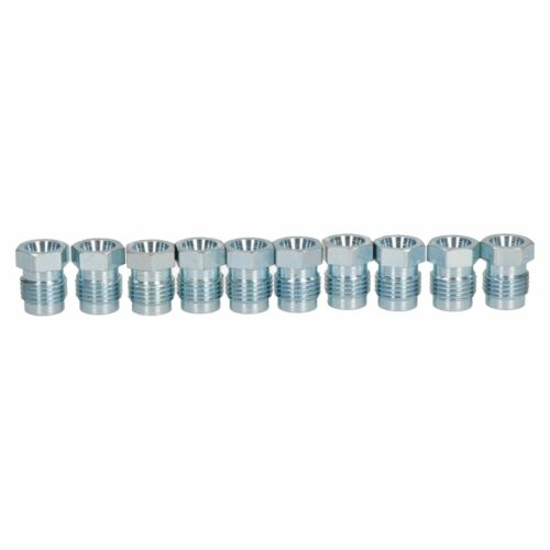 """Steel Male Brake Pipe Union Fittings 1//2/"""" x 20 UNF for 1//4/"""" Brake Pipe 10pc"""