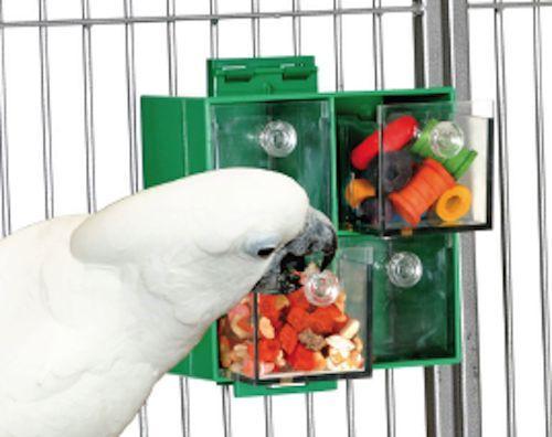 Parrot Toy Pet Bird Four Big Drawers Foraging Feeder Feeder Feeder for Treats 903b3f