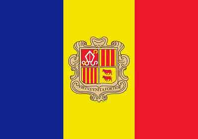 PREMIUM Aufkleber Fahne von Andorra Flaggen Auto Motorrad Sticker Autoaufkleber