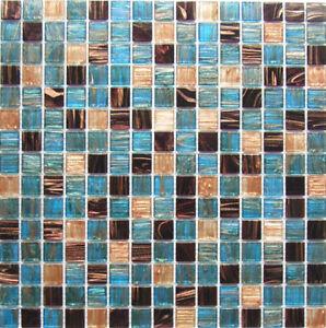 Détails sur Mosaïque Verre Carrelage échantillon GM07 Bleu Bronze Cuisine &  Salle De Bains Carrelage- afficher le titre d\'origine