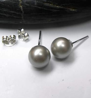 Nuovo Argento 925 Orecchini A Bottone 8mm Swarovski Perle Platinium/argento-platino Orecchini-er-platin Ohrringe It-it Mostra Il Titolo Originale