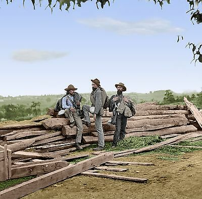 6 Sizes! Colorized Civil War Photo Poster Confederate Prisoners at Gettysburg