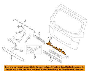 hyundai oem 07 12 santa fe liftgate tailgate emblem badge nameplate rh ebay com Chevy Silverado Tailgate Parts Diagram Ford Bronco Tailgate Wiring-Diagram