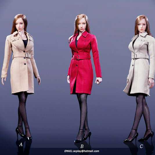 ACPLAY 1 6 Female Trench Coat Suit Set ATX049 Long Clothes F 12'' Doll