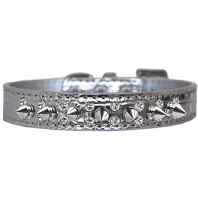 Crystal /& Silver Spike Collar
