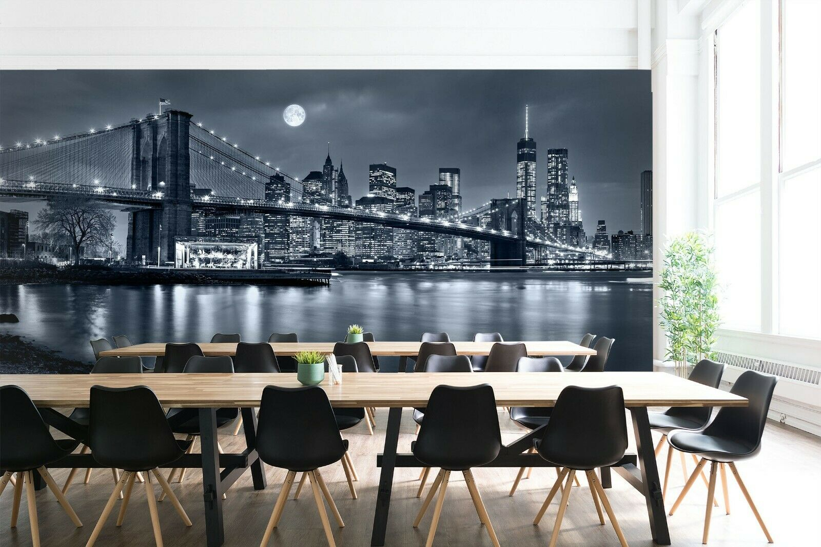 3D Brooklyn Bridge N084 Business Wallpaper Wall Mural Self-adhesive Commerce Amy