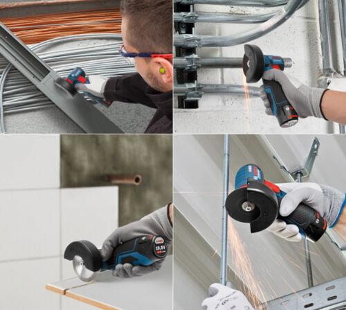 """Fedex Bosch GWS 10.8-76 V-EC Professional Cordless 3/"""" Angle Grinder 2.0Ah 2x"""