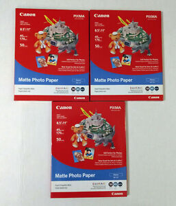 New-Canon-Matte-Photo-Paper-MP-101-8-5-034-X-11-034-50-Sheets-7981A004-Lot-3-150