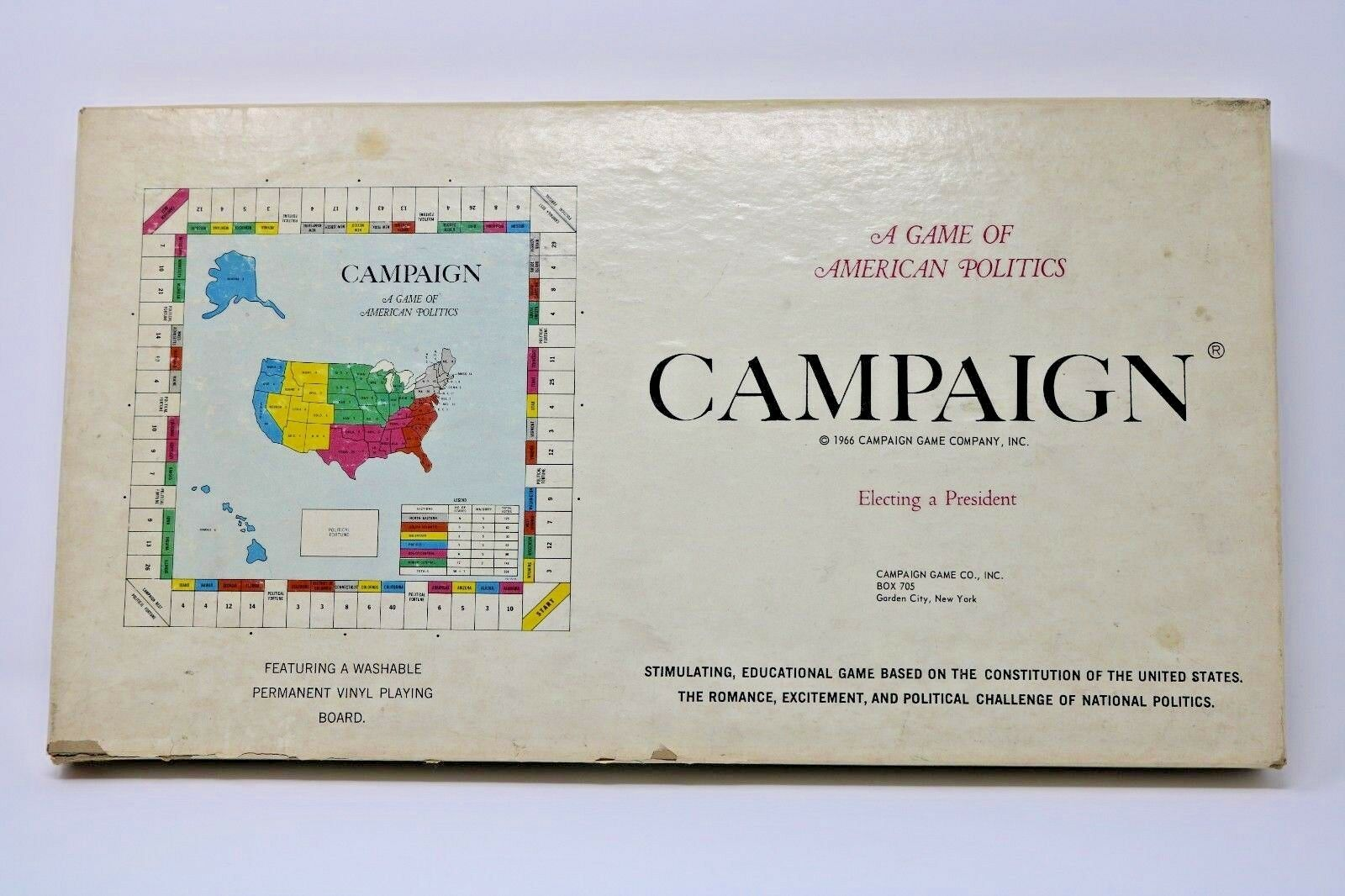1966 CAMPAIGN A Game of American Politics Board Game Clean Complete HTF