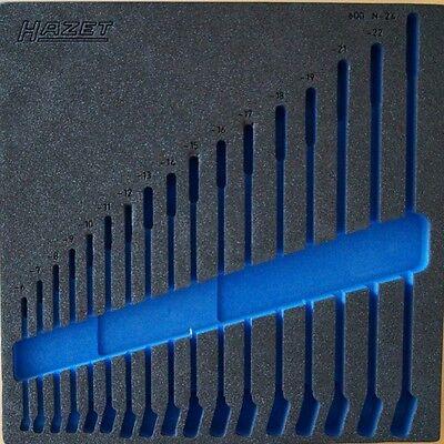 HAZET Ring- Maulschlüssel Schaumstoffeinlage für 6-24mm ohne Werkzeug