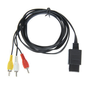1-8m-6FT-AV-TV-RCA-Game-Video-Cable-Cord-for-Snes-Nintendo-64-N64-NIGH