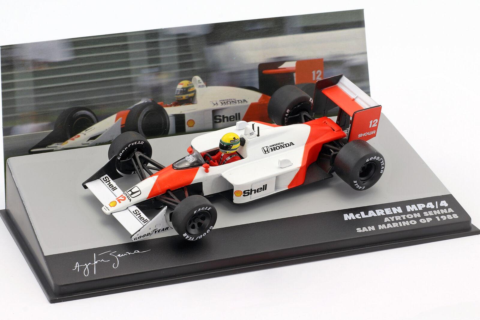 Senna Minichamps 1:43 547884212 1988 F1 McLaren Honda MP4//4 1st Win A