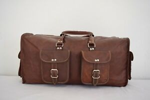 21-034-Leather-Duffle-Hold-All-Bag-Weekend-Travel-Luggage-Handbag-Sports-Gym-Bag