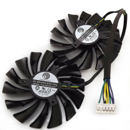 for 1 pair of PLD10010S12HH  VGA fan MSI GTX1070 GTX1060 graphics card fan  6Pin