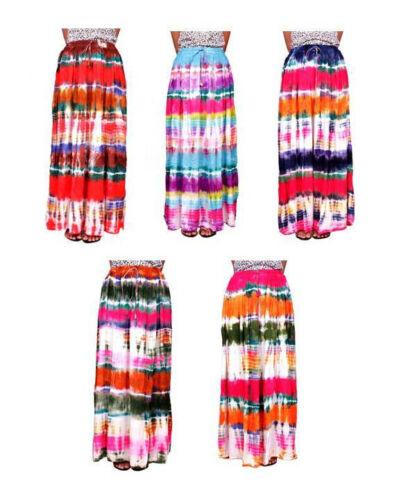 100pcs Boho all'ingrosso Stampa Dye Tie Apparel 5pcs India lunga Gonna Gypsy Lotto Usa EqwFSp6n