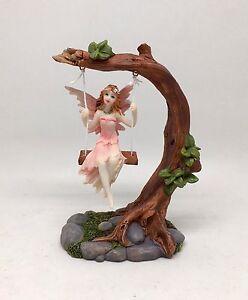 Swinging fairy on tree swing ornament figurine statue ebay for Decoration list mhw