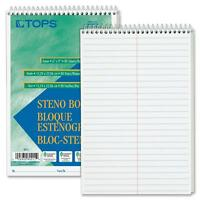 Tops Steno Book Gregg Rule 80 Sheets/pd 6x9 12/pk White 8020 on sale