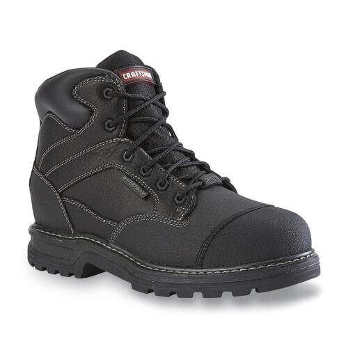 Craftsman Mens Theo Waterproof Black Steel Toe Work Boot Oil Slip Resistant wide