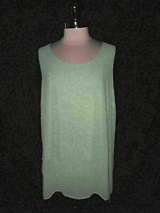 NEW LANE BRYANT Plus Size 2X 18 20 Tunic Top Blouse Green Sleeveless