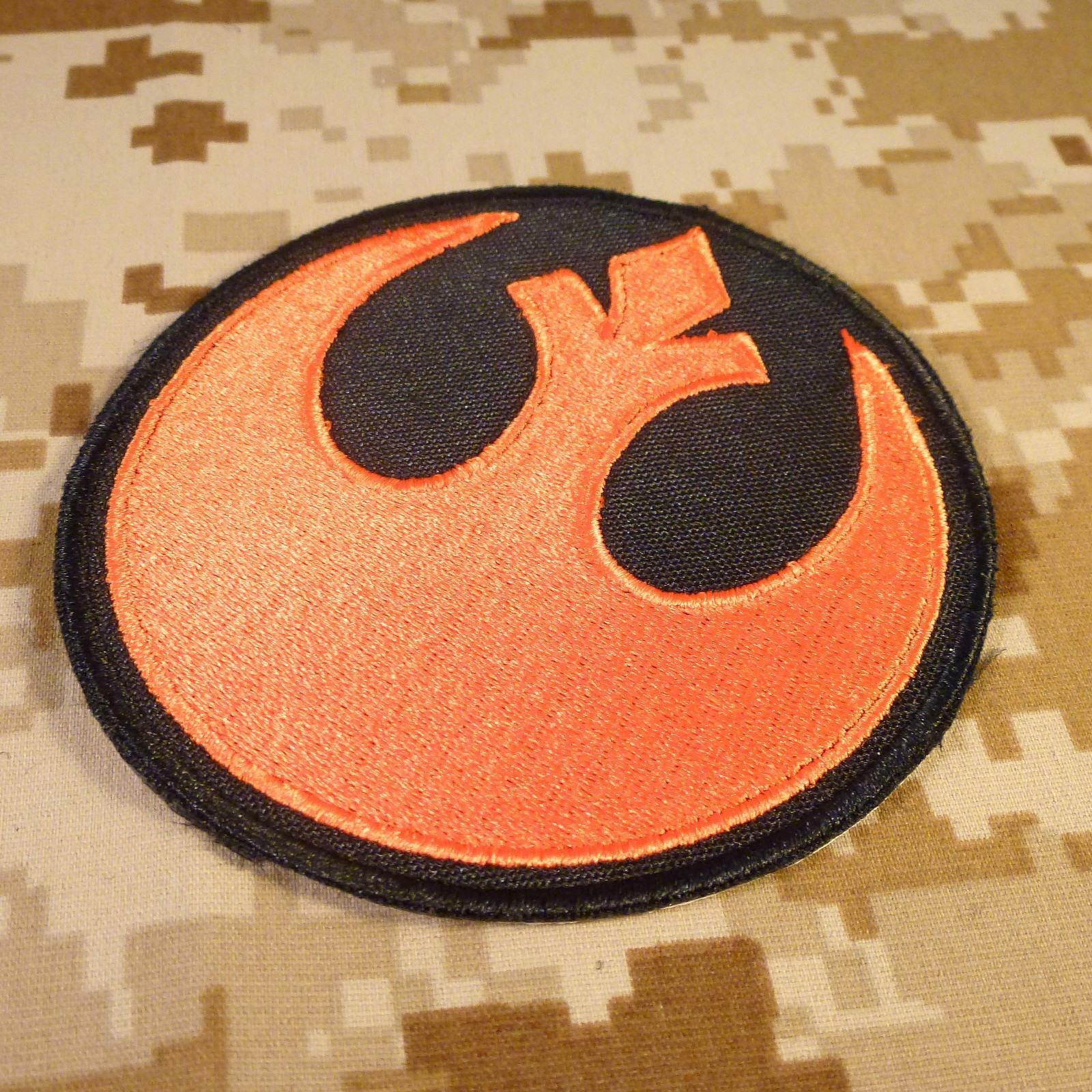 rebel alliance star wars embroidery rogue squadron x-wing tag hook patch