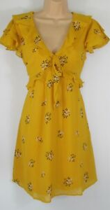 New-Look-Floral-Print-Ruffle-Front-Summer-Party-Dress-Uk-Size-6-18