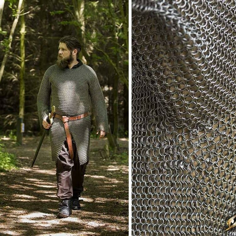 Alaric Metal Chainmail Shirt, Ideal for Re-enactment, Costume or LARP