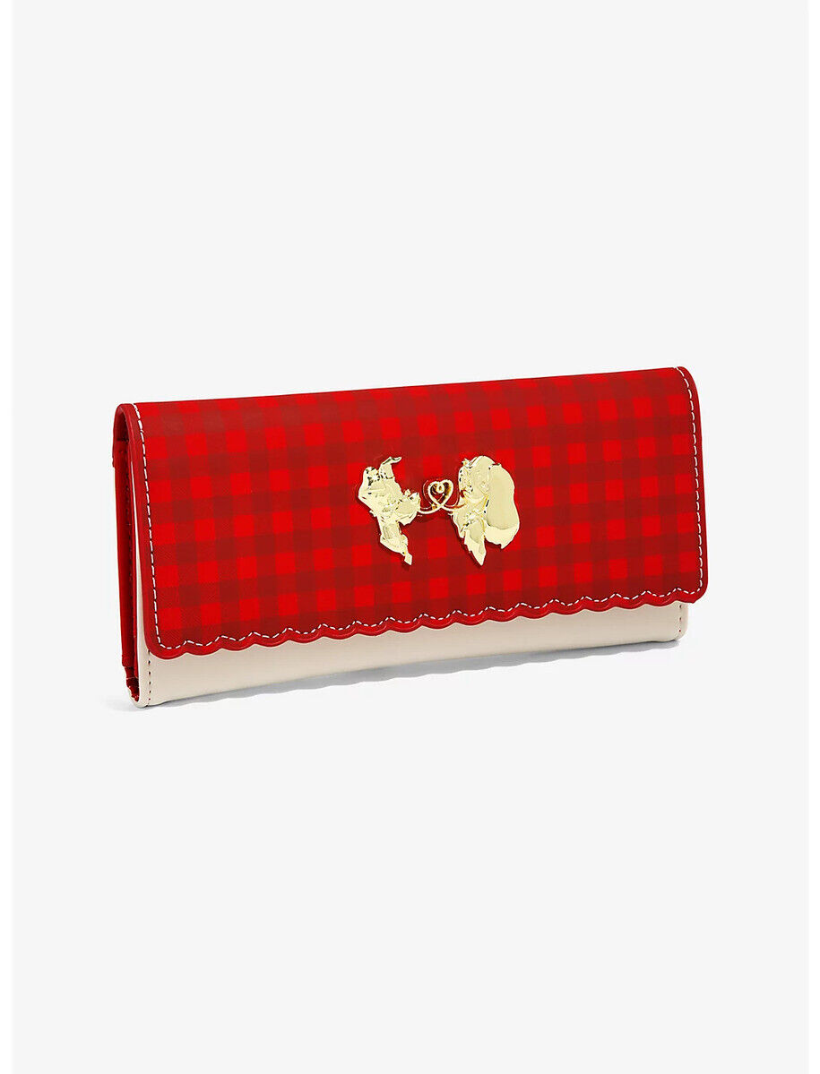Disney Lady And The Tramp Love Plaid Wallet by Loungefly - New, With Tags