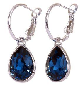 Swarovski-Elements-Crystal-Montana-Teardrop-Earrings-Rhodium-Authentic-New-7257y