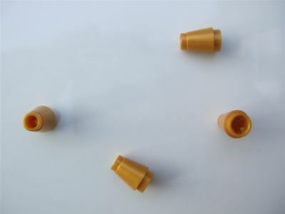 Parts /& Pieces 4 x Lego Gold cone with top groove - 4529247 size 1x1