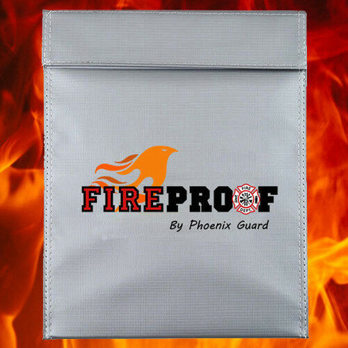 """Anti Fire Fireproof Resistant Document Pouch Bag Storage Safe Seal Pocket 11x15/"""""""