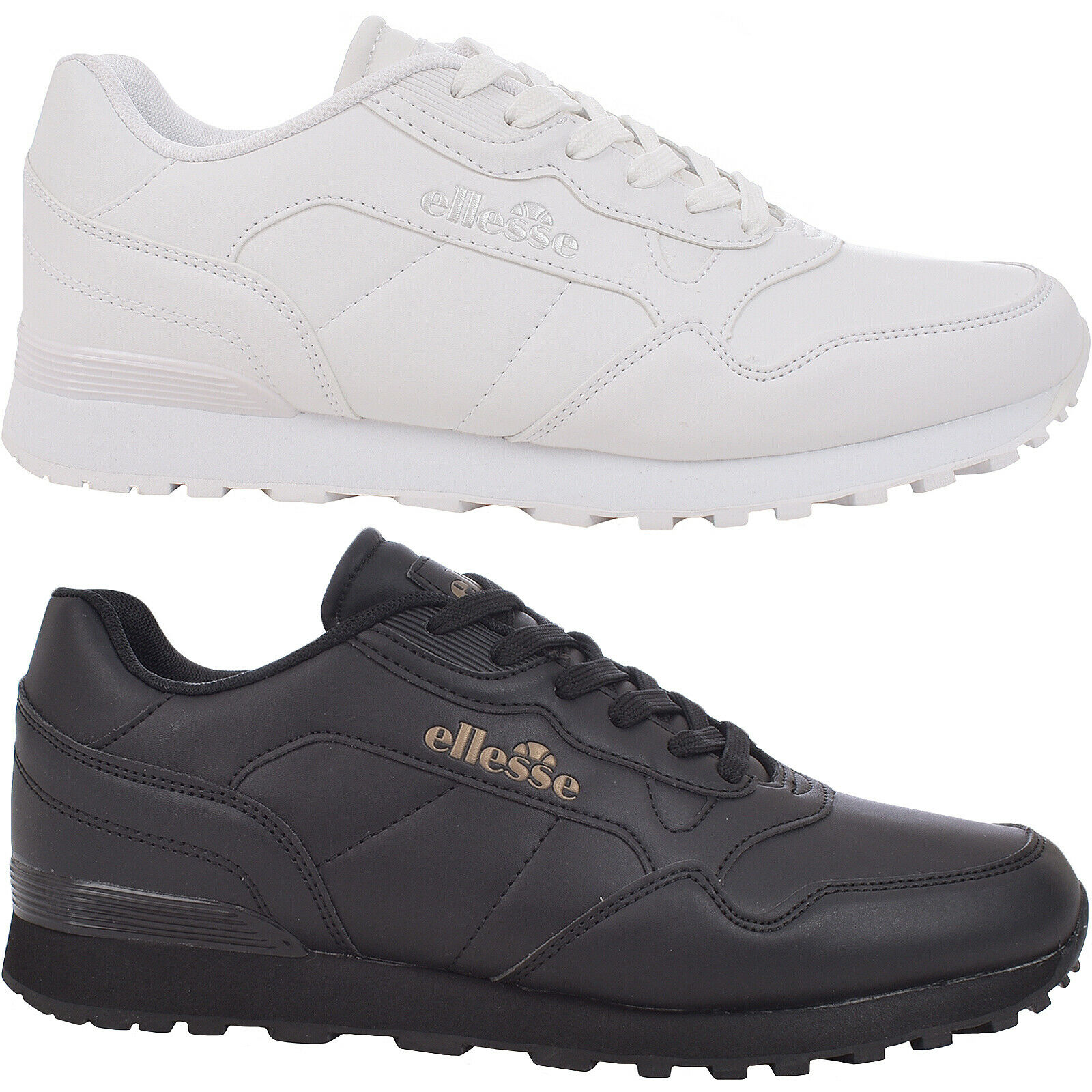 Ellesse Mens Leather Classic Casual Low Rise Lace Up Trainers Sneakers shoes