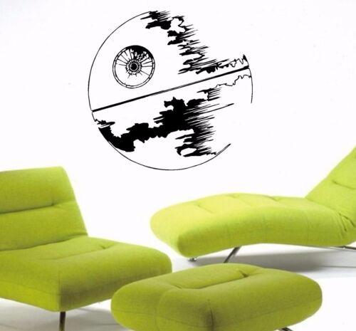 WALL ART STICKERS VINYL ART DECALS STARWARS DEATH STAR