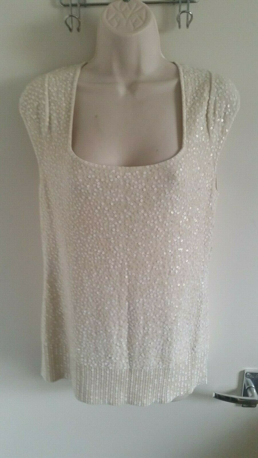 BNWT Jaeger Ladies Hand Finished Sleeveless Silk & Cashmere Top (UK M) RRP