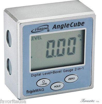 iGAGING DIGITAL ANGLE CUBE ELECTRONIC LEVEL SENSOR BEVEL GAUGE TRIPLE MAGNETIC