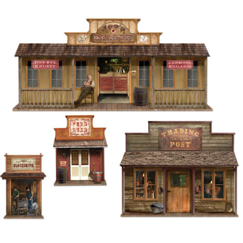 Wild West Party Scene Setter Party Add On Decoration TOWN PROPS PS