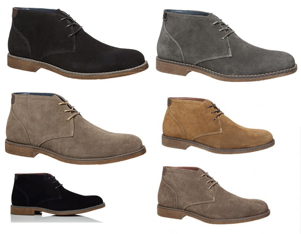 MENS HUSH PUPPIES ADULTS - TERMINAL FORMAL  WORK CASUAL  SUEDE SHOES BOOTS MEN'S