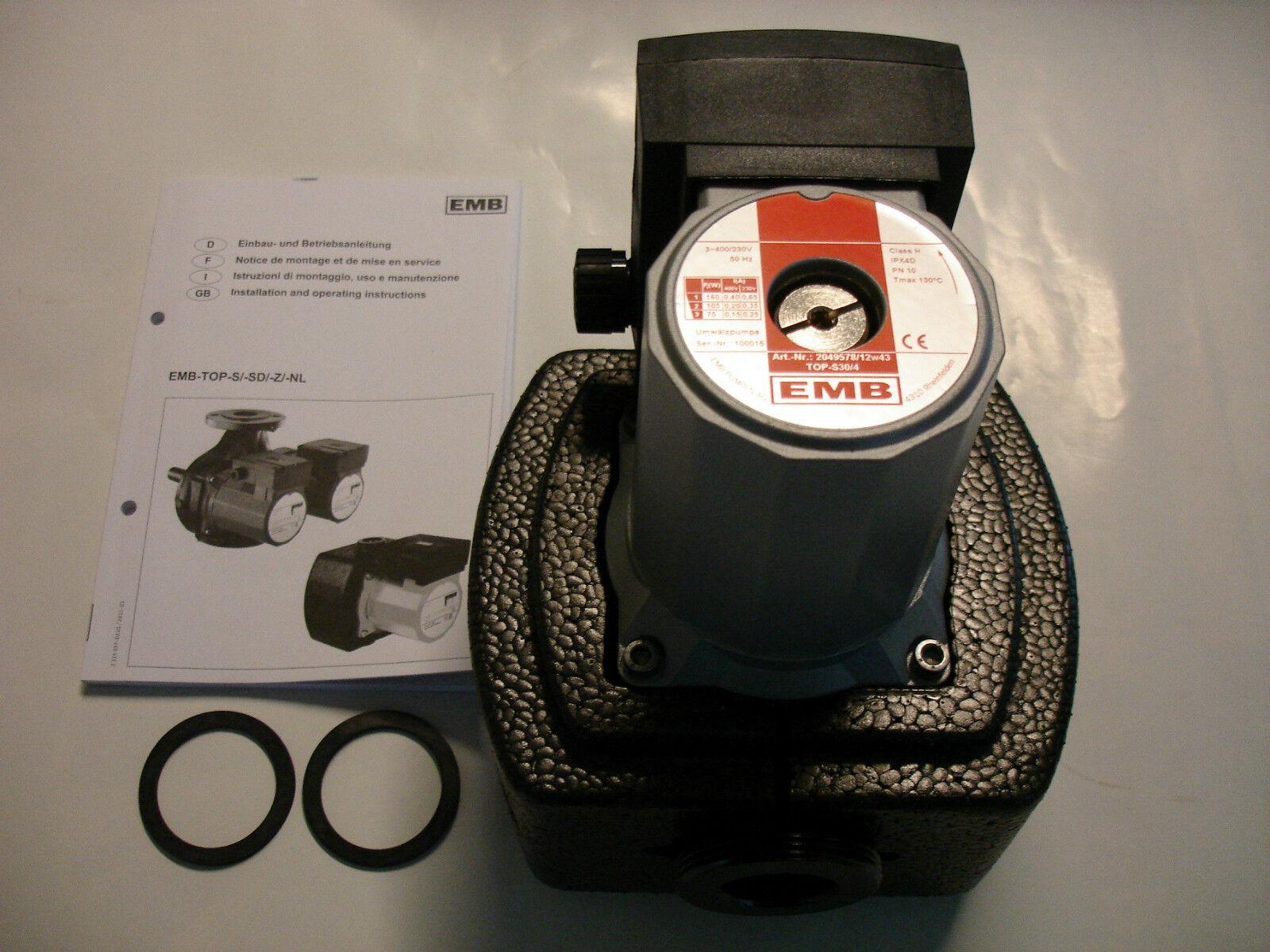 EMB / WILO TOP-S 30/4 DM PN 6/10 2049578 / 2044012 Nassläufer - Standard - Pumpe