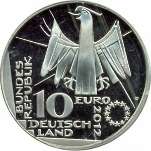 Allemagne 2012 G 10 EURO 100 ANS BIBLIOTHEQUE NATIONALE ALLEMANDE BE