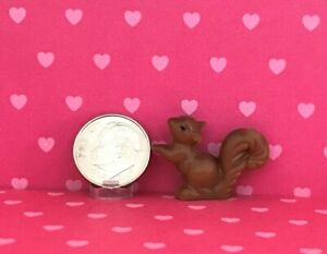 Dollhouse Miniature Figurine-One Brown Squirrel-Can be Used as Large 1:12 or 1:6