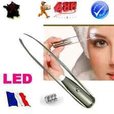 PINCE A EPILER LUMINEUSE ECLAIRAGE LUMIERE LED, EPILATION DE SOURCILS VISAGE