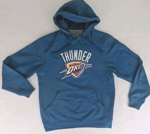 best loved 815d7 3a596 Details about Oklahoma City Thunder NBA Store Mens Hoodie Jacket Pullover  Blue Ibaka #9 Small