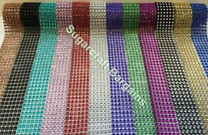 Crafts Bling Ribbon Sparkly Sugarcraft Cake Decorating Card Craft Mesh Silver Diamante Home & Garden