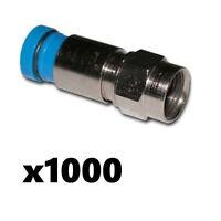 Belden Sns1p6 Rg6 Coax Cable Compression F Connectors Blue 1000 Pack Snap-n-seal