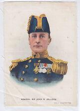 SIR JOHN R. JELLICOE BDV Cigarettes auf Seide. Godfrey Philips Ltd 1900-1948 RAR