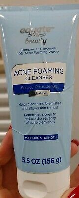 Equate Beauty Acne Foaming Cleanser 5 5 Oz 10 Benzoyl Peroxide