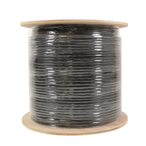 Cat6 UTP 1000FT Ethernet Cable Outdoor Direct Burial Gel Flood 23AWG Bare Copper