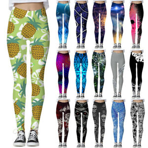 Graphic-3D-Printed-Women-Skinny-Stretchy-Pencil-Pants-Yoga-Gym-Leggings-Trousers