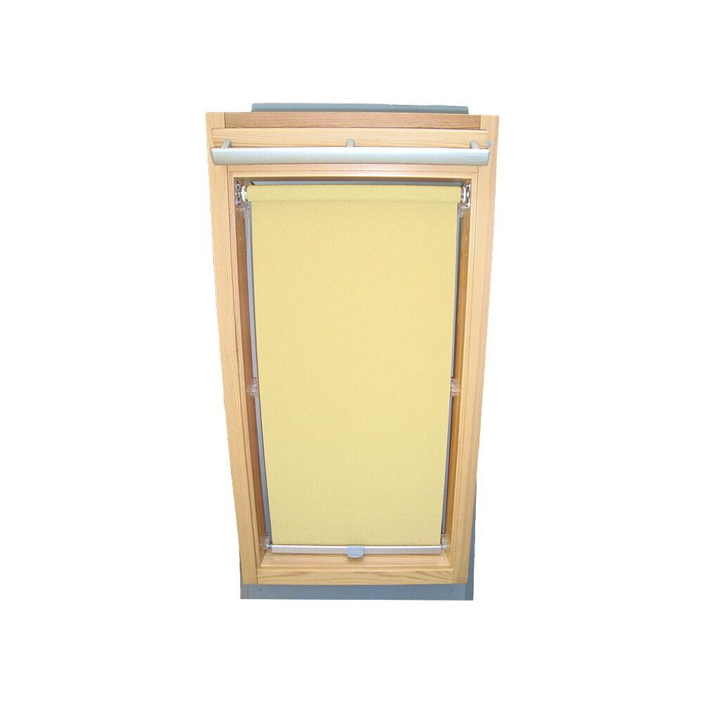 Dachfensterrollo Sichtschutzrollo Rollo für Velux GGL GPL GHL - hellgelb-creme   Zart