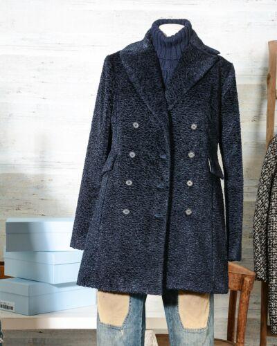 Doppio Blu Cappotto Women Donna Navy Coat Petto Altea qxqwEg14